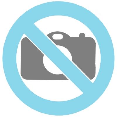 Symbol Halskette 'Dreieck' aus 14 Karat Gelbgold (Vorderseite weiβe und Rückseite schwarze Zirkonia)